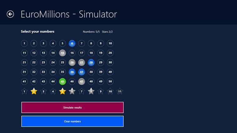 EuroMillions - Results Checker posnetek zaslona 3