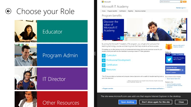 Microsoft IT Academy screen shot 3