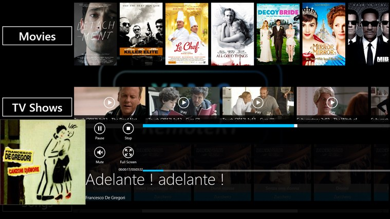 XBMC RemoteRT screen shot 1