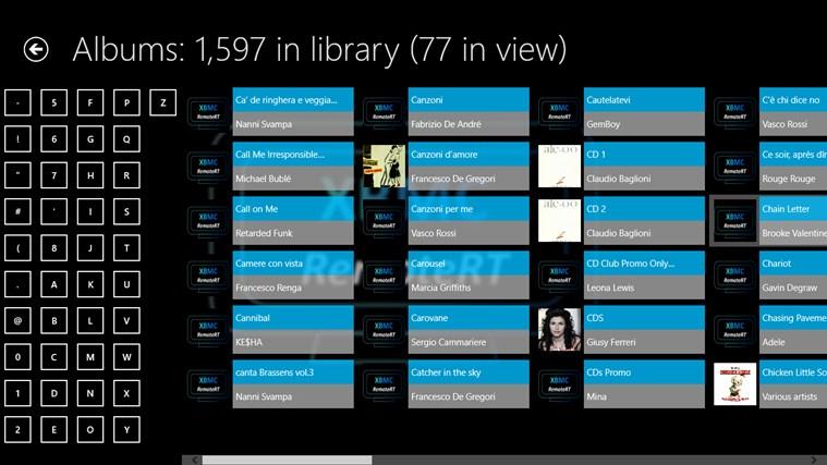 XBMC RemoteRT screen shot 5