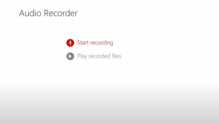 Audio Recorder screen shot 1
