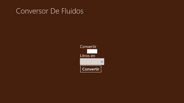 Convertidor Unidades Líquidos captura de pantalla 1