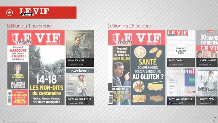 Le Vif/L'Express capture d'écran 1