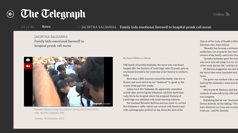The Telegraph screen shot 3