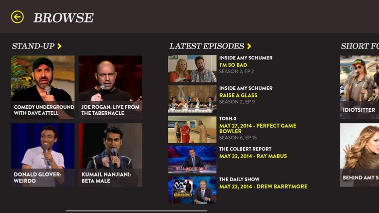 Comedy Central screen shot 3