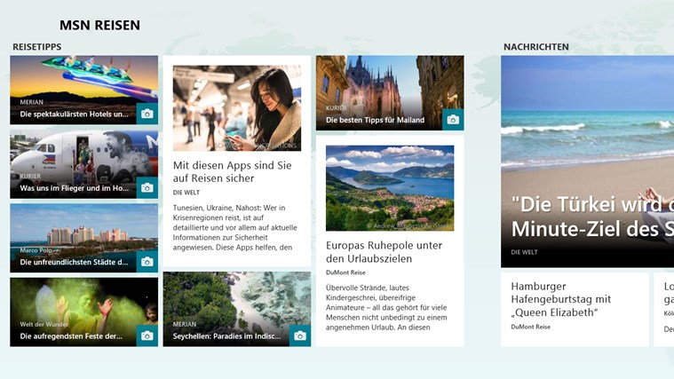 MSN Reisen Screenshot 1