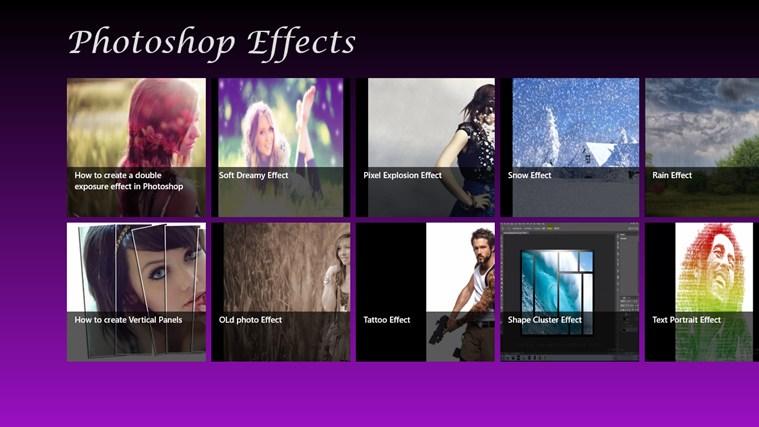 Photoshop effects umfanekiso weskrini 1