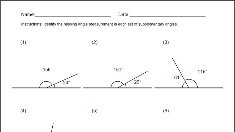 Vertical And Adjacent Angles Worksheet Free Worksheets Library – Supplementary Angles Worksheet