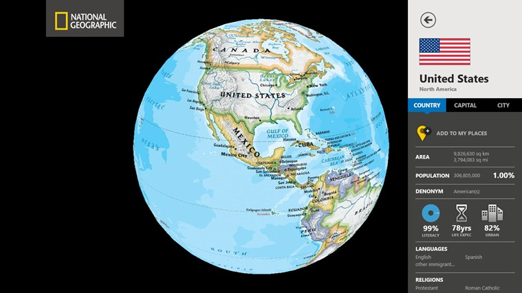 World Atlas by National Geographic screen shot 1