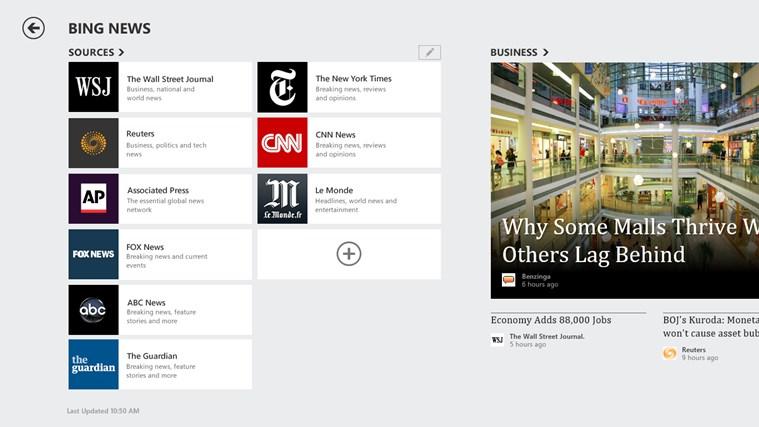 Bing News screen shot 3