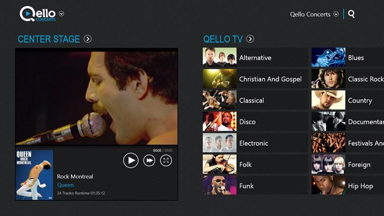 Qello Concerts screen shot 1