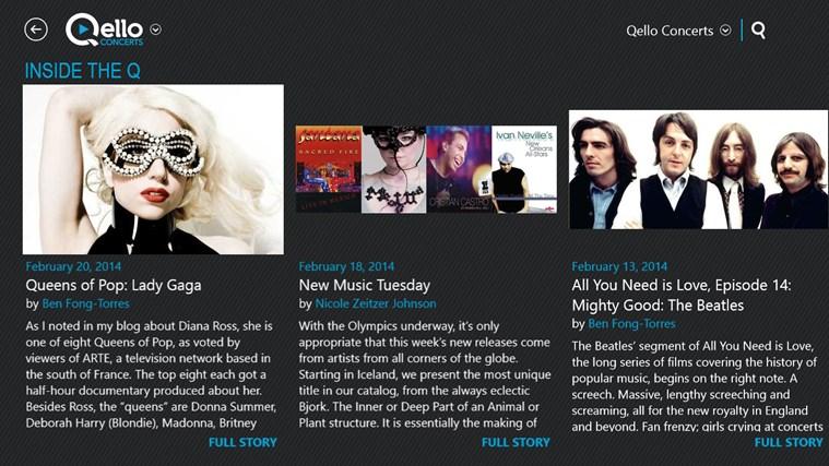 Qello Concerts screen shot 5