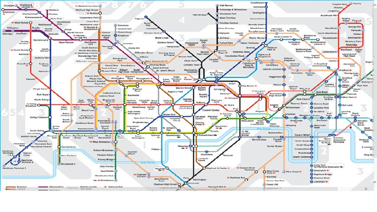 London Tube Map posnetek zaslona 1