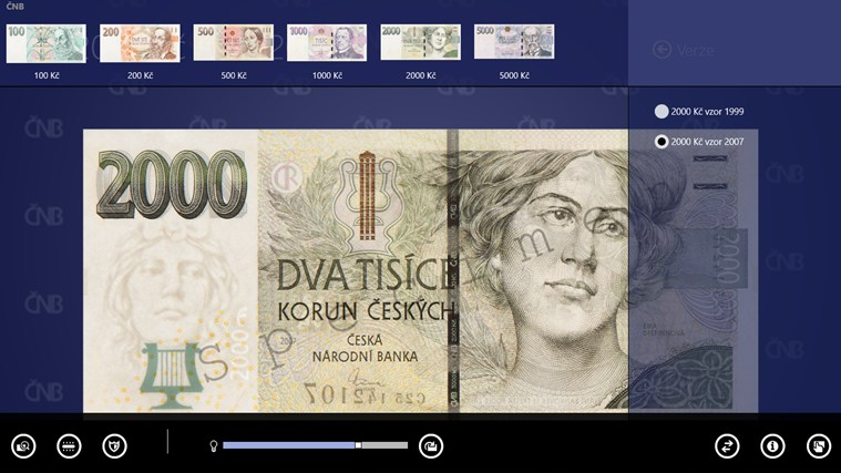 České peníze snímek obrazovky 3