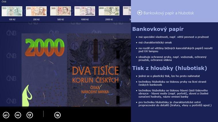 České peníze snímek obrazovky 5