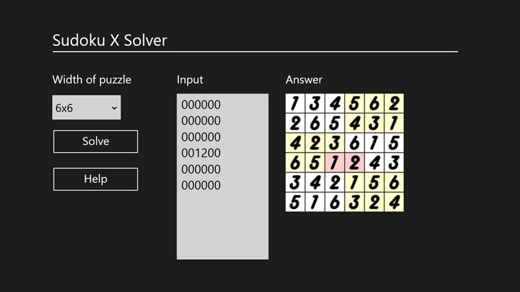 Sudoku X Solver by Yau Hing Yiu screen shot 3