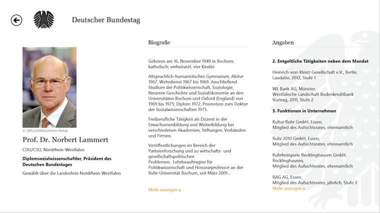 Deutscher Bundestag screen shot 5