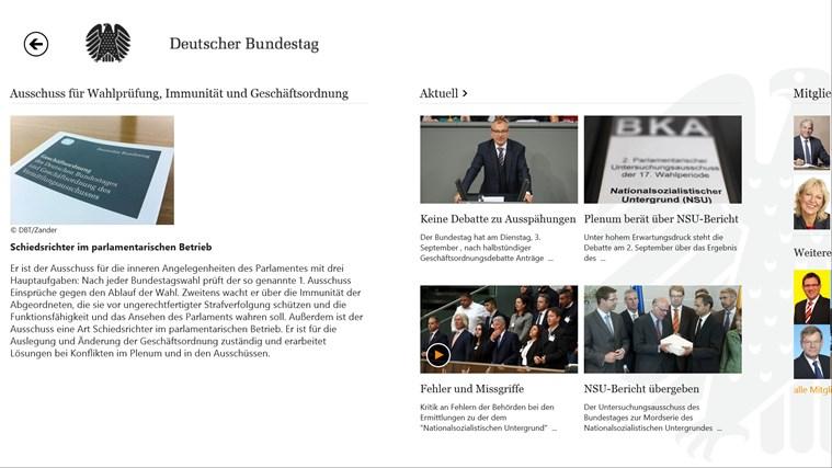 Deutscher Bundestag screen shot 7