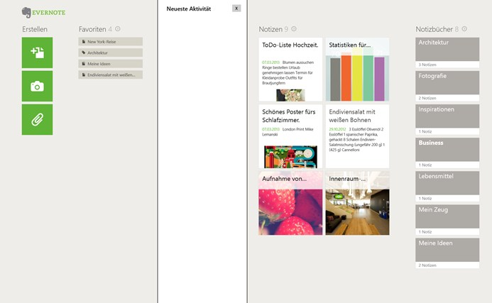 Evernote Touch Screenshot 5