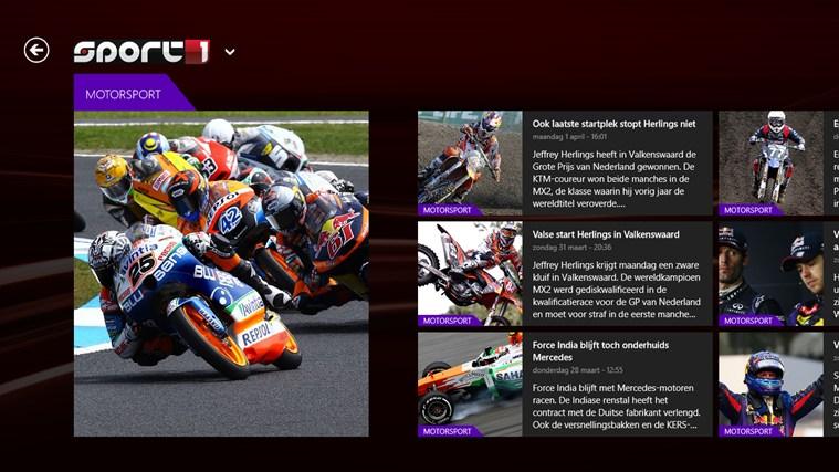 Sport1 schermafbeelding 1