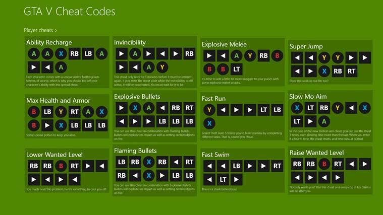 Pics photos gta 5 cheats ps3 xbox 360 1 01 screenshot 0