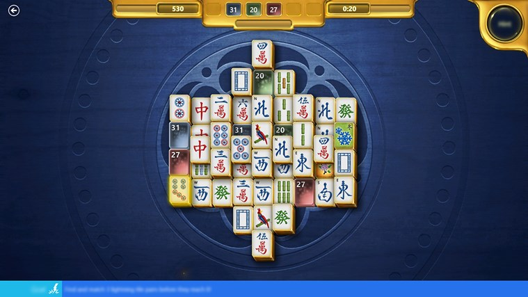 Microsoft Mahjong screen shot 1