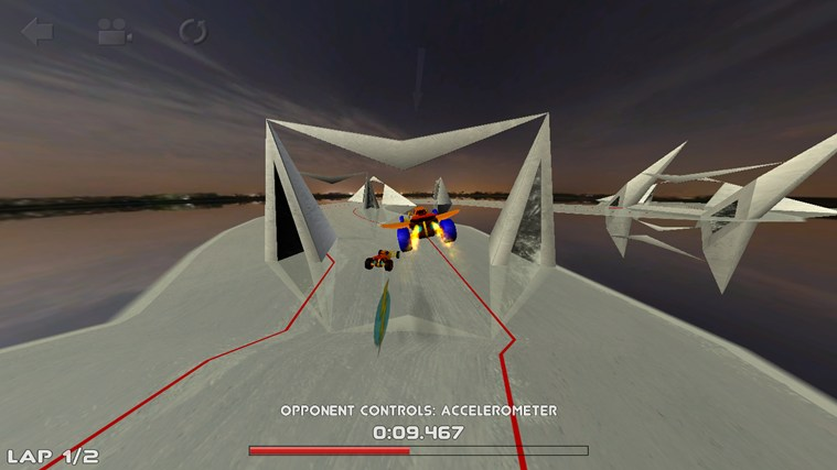 3D Car Race screen shot 1