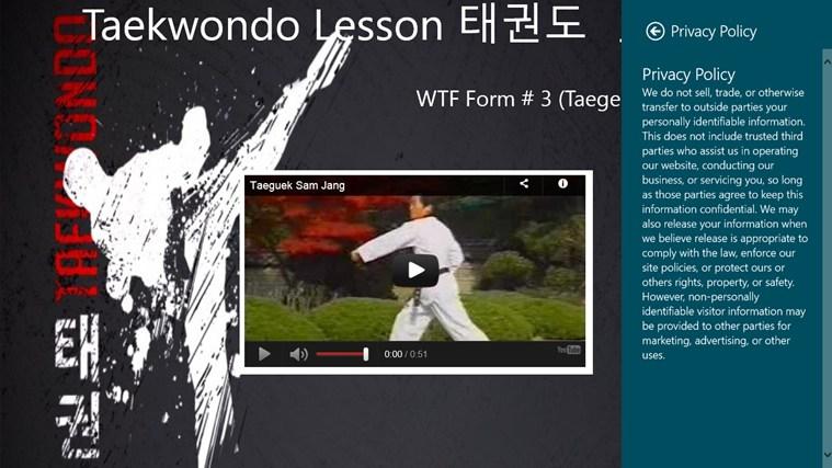 WTF(Taegeuk Sam Jang) petikan skrin 1
