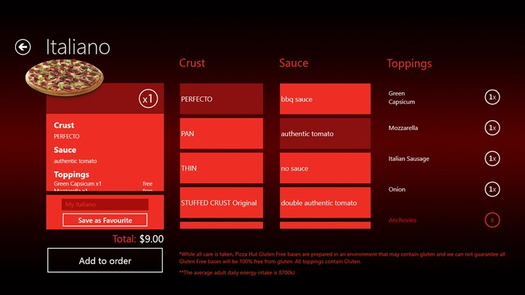 Pizza Hut Australia screen shot 7
