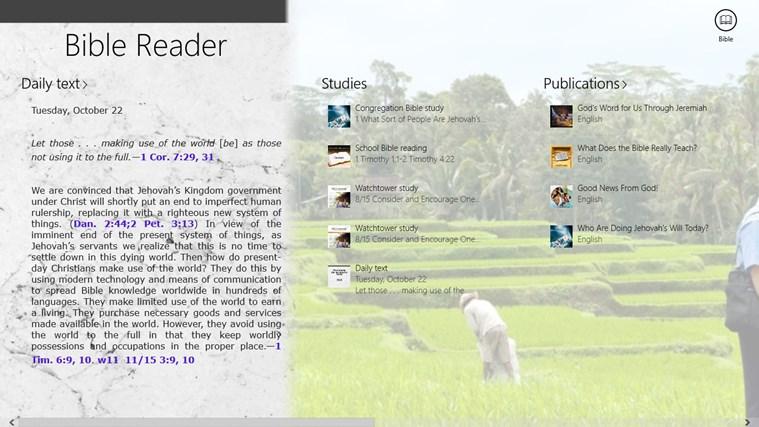 JW Bible Reader screen shot 1