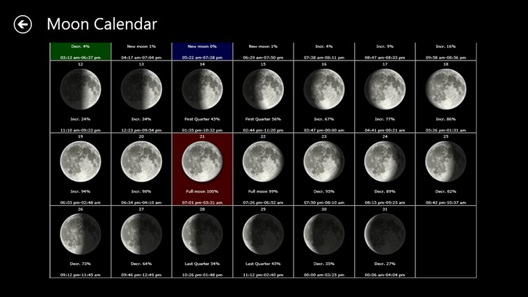 Moon Phases Live screen shot 5