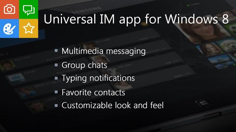 IM+ Instant Messenger screen shot 1