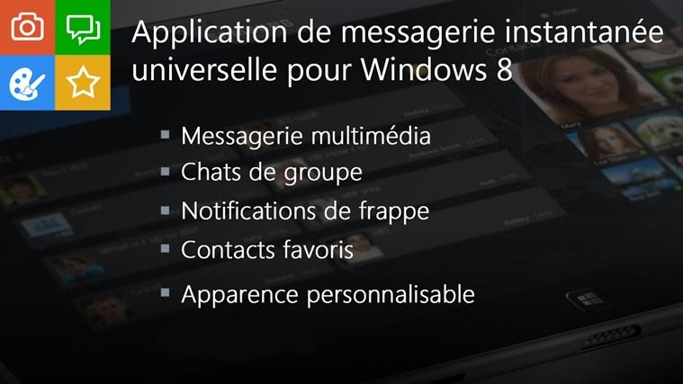 IM+ Messagerie Instantanée capture d'écran 1