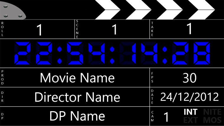 Digital Clapperboard screen shot 1