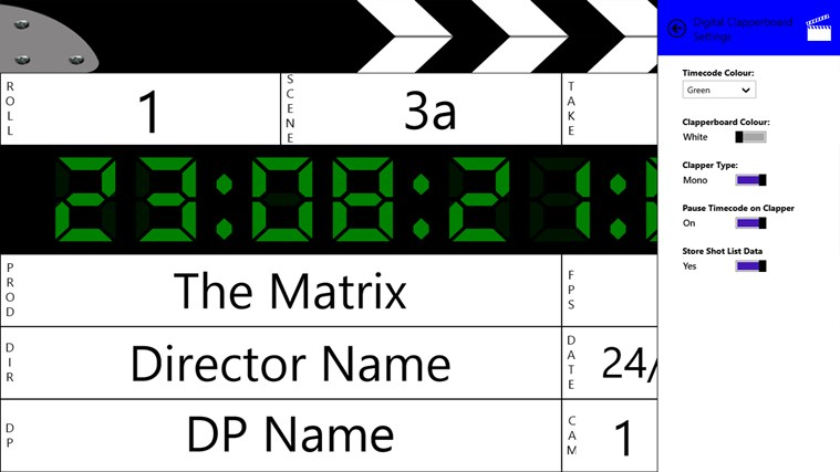 Digital Clapperboard screen shot 3