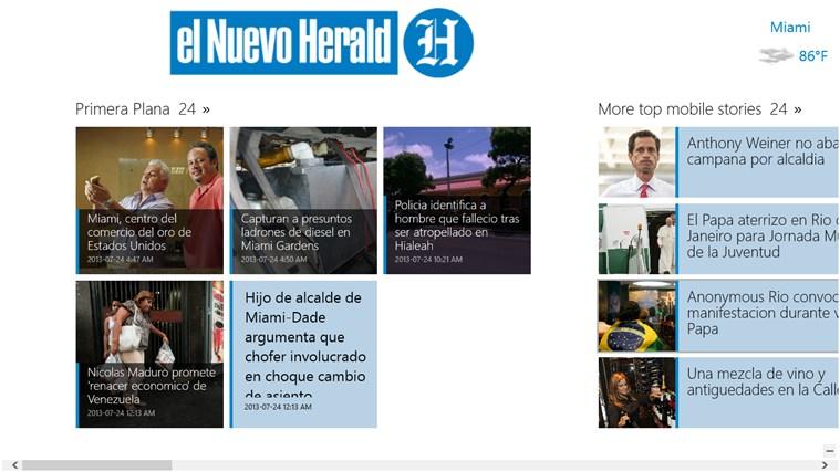 el Nuevo Herald screen shot 1
