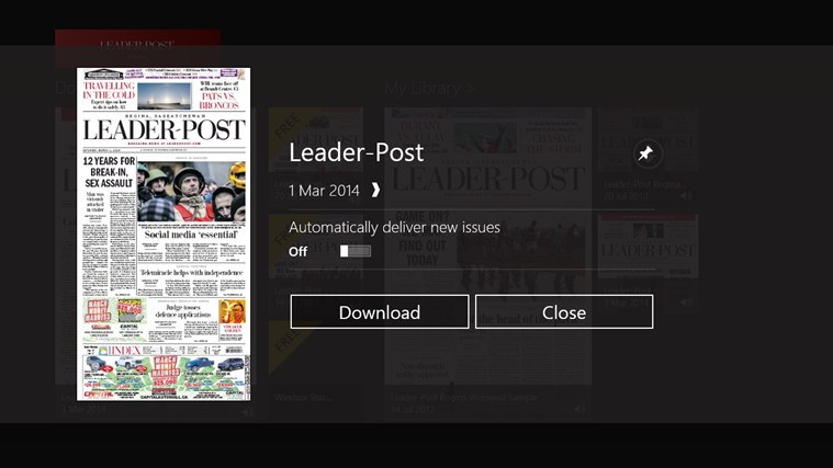 Leader-Post ePaper screen shot 1