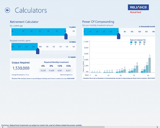 Reliance Mutual Fund i-screen shot 1