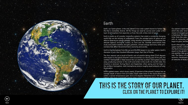 Planet Story screen shot 1