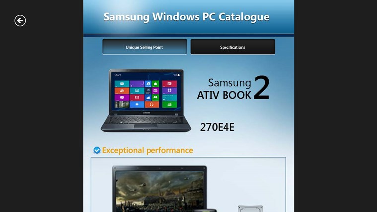 Samsung Windows PC Catalogue screenshot 3
