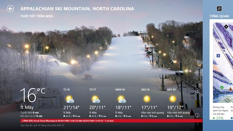 Thời tiết trên MSN ảnh chụp màn hình 3
