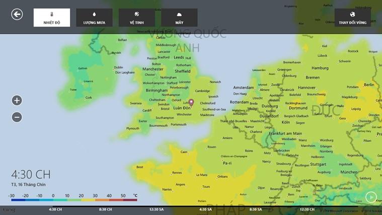 Thời tiết trên MSN ảnh chụp màn hình 5