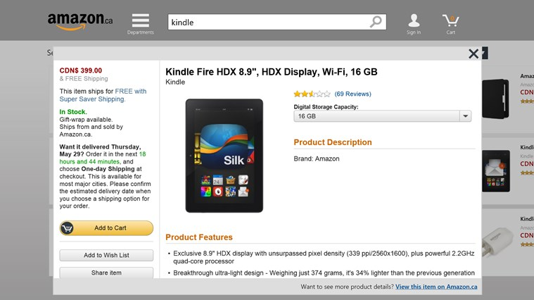 Amazon screen shot 1