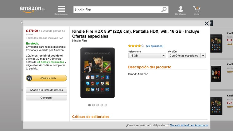 Amazon captura de pantalla 1