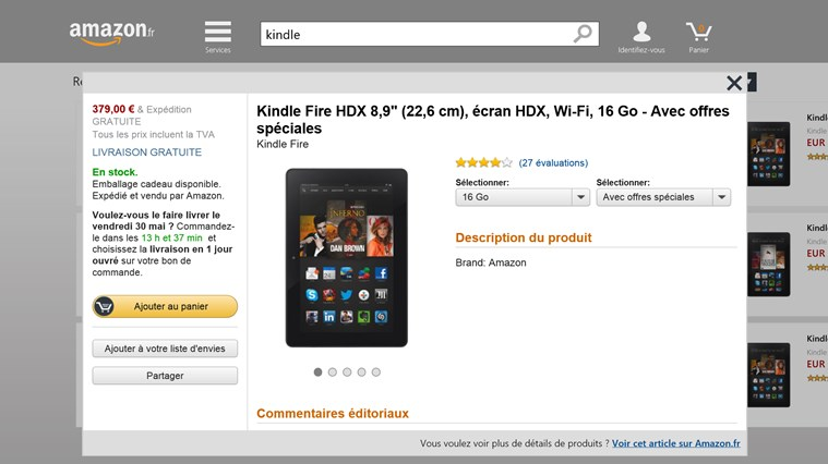 Amazon capture d'écran 1