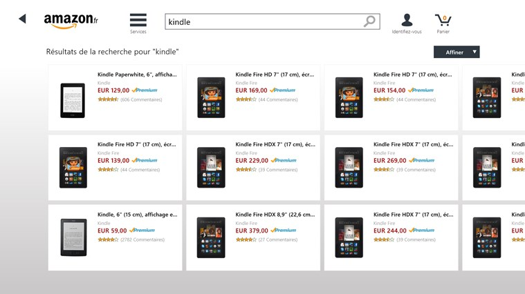 Amazon capture d'écran 3