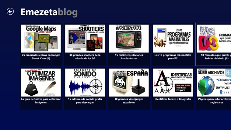 Emezeta Blog: снимок экрана 1