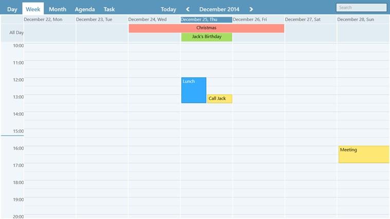 WinPIM Calendar screen shot 1