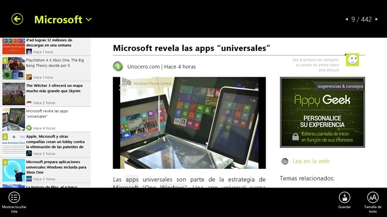 Appy Geek captura de pantalla 3