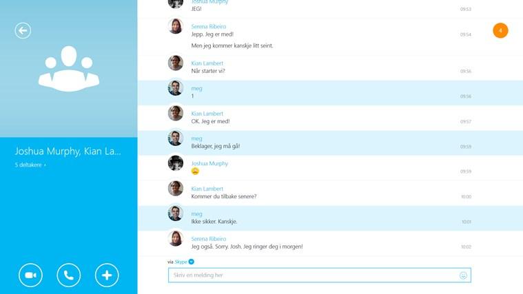 Skype skjermbilde 3